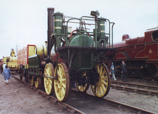 Sans Pareil: replica of the 'Sans Pareil', an original contender at the Rainhill Trials.This photo was taken at the 'Rocket 150' event  which  commemorated the 1829 Rainhill trials.  This consisted of a 'Cavalcade of Steam' with working locos on the main Liver