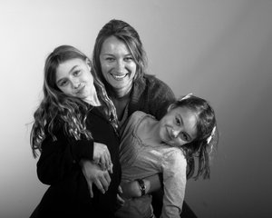 My girls: My wife and daughters in an impromptu pose while I tested out some new flashes
