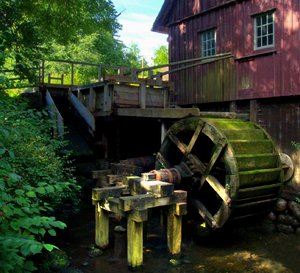 Watermill - HDR: Old Watermill. Picture is HDR, made from 3 pictures.