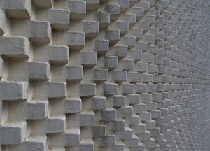 Texture - Brickwall with effec: Bricks laid by turns