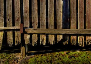 Old wood fence - HDR: No description