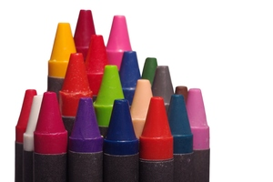 Crayons: Colourfull crayons isolated with white background.