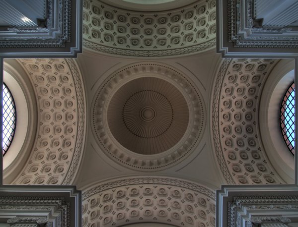 Church ceiling- HDR: The ceiling of Roskilde Chathedral. The picture is HDR, derived from 3 individual pictures.