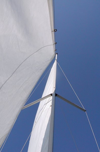 SunSails: The sails on my boat catching the sun