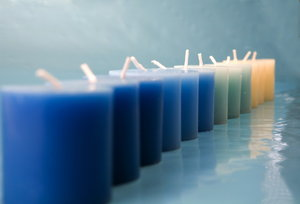 candles: candles with blue background