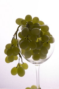 grapes in glass: fresh fruits