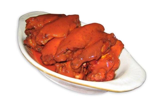 Spicy Hot Wings: Buffalo wings with hot sauce