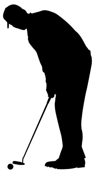 Golfer1: Vector Art