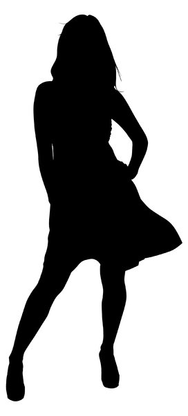 Silhouette Pose 15: Vector Art