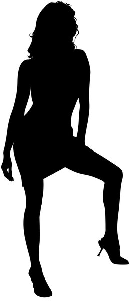 Silhouette Pose 48: Vector Art