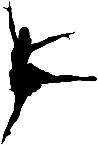 Dancer Silhouette: