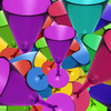 wine glasses: colourful wine glasses-3D composition