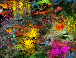 paint canvas: abstract painted canvas-CG graphic