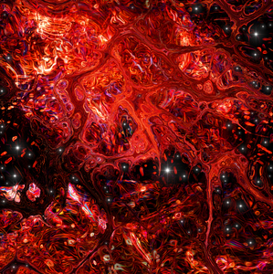 red universe: red universe-computer graphic