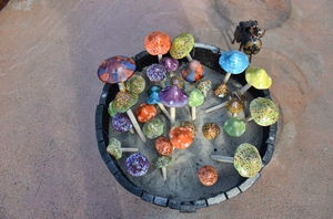 decorative mushrooms: decorative mushrooms-Old Mexican city-San Diego