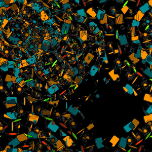 scattered shapes: scattered shapes-CG