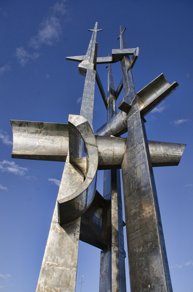 metal sculpture: metal sculpture at the coastline of Gdynia-Poland