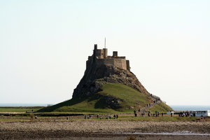 Lindisfarne Castle 1: The castle is located in what was once the very volatile border area between England and Scotland. Not only did the English and Scots fight, but the area was frequently attacked by Vikings. The castle was built in 1550, around the time that Lindisfarne Pr