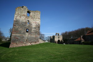 Etal Castle 4: Etal was built in the mid-14th century by Robert Manners as a defence against Scots raiders, in a strategic position by a ford over the River Till. It fell to James IV's invading Scots army in 1513, immediately before their catastrophic defeat at nearby