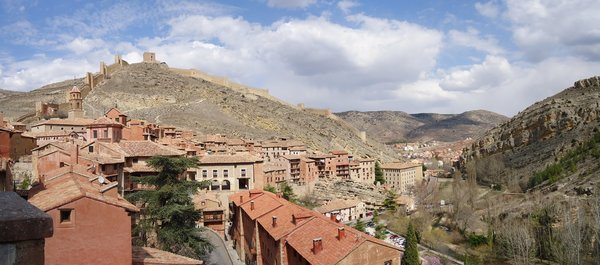 Albarracin: Panoramic view of the City of Albarracin, in the province of Teruel (Spain)