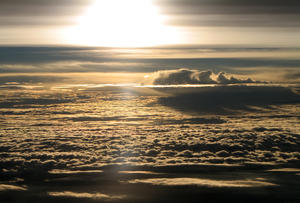 Sunrise in the Clouds: Sunrise in the Clouds, Himalayas