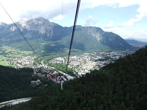 View from a Gondola: scenic view while riding in a gondola in Germany