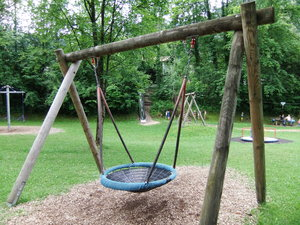 Swinging Nest: this swing is made to take more than one child