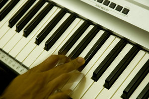 The hand that plays Piano: Electric Piano