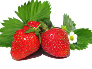 sweet strawberries: none