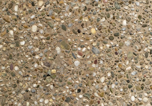 pebble stone wall: none