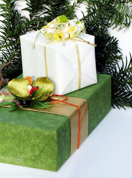 wrapped present: none