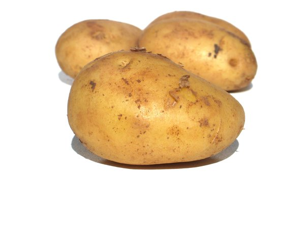 plain potatoes: none