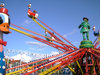 Carousel: Carousel on a fun fair ride in theme park for fun and happy play.