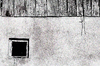 Window: Small window in old building (in B&W)