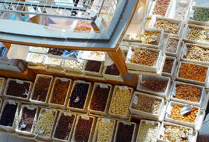 Market: Sweets and nuts