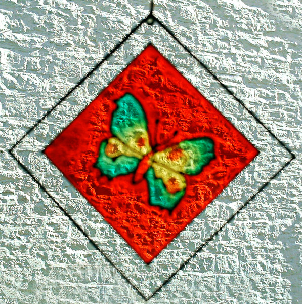 Butterfly: Stained glass