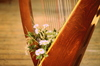 Harp with flowers: no description