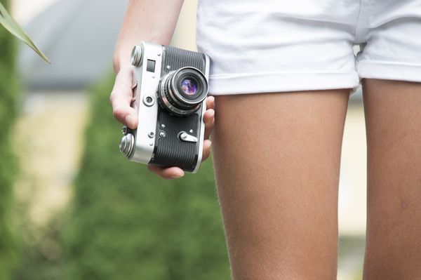 girl with camera: girl with camera
