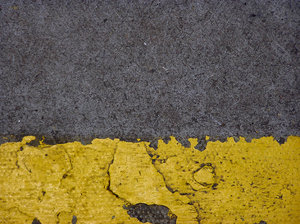 The Yellow Line: One part of a very long stretch of yellow paint :oD