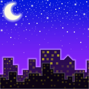 City Night: visit my site ozaidesigns.com for more of my free illustrations!night time city skyline. **If you download this for online use, dont give me credit but DO send a link, I love to see how my work is used!