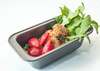 Simple and Healthy Lunch : Photo of simple and healthy lunch of lamb meatballs with strawberries and rocket salad
