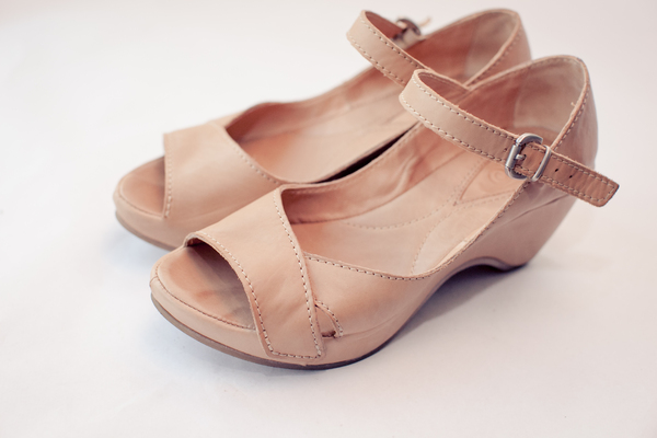 Leather Wedge Heels 2: Photo of leather wedge heels