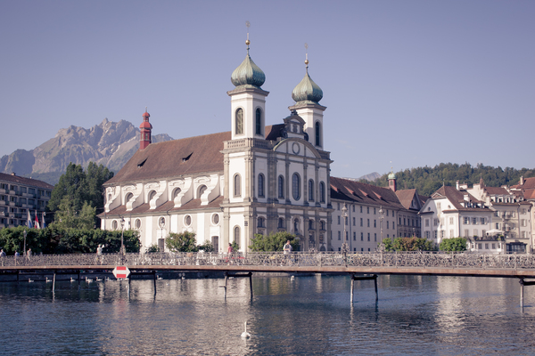 Scenic view of Lucerne 1: Photo of the city of Lucerne in Switzerland
