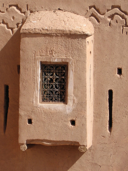 Ouarzate kasbah window: a window in the old kasbah at Ouarzate, Morocco