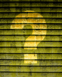 question mark: question mark on texture  (composite image)