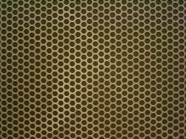 Texture panel: metal panel with holes