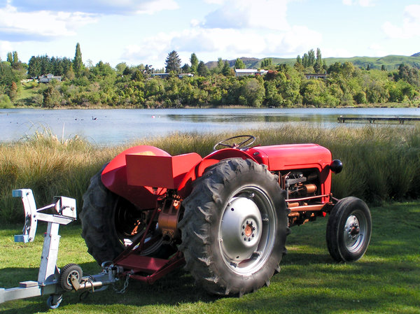 Red tractor: Red tractor