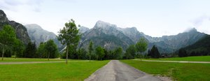 "alp panorama: panorama of the austrian alps - ""totes gebirge"" region"
