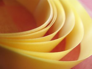yellow ribbon texture: coiled ribbon close-up
