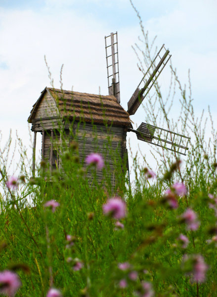 Old Windmill 1: old windmill at pirogovo outdoor museum (ukraine)
